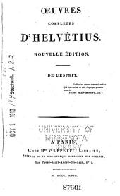 Oeuvres Completes D'Helvétius: Volume 1