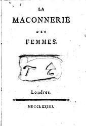 La Maconnerie des femmes