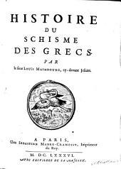Histoire Du Schisme Des Grecs