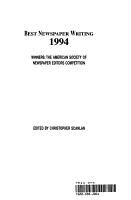 Best Newspaper Writing 1994 PDF