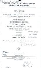 Internal Revenue Service Mismanagement and Ideas for Improvement PDF