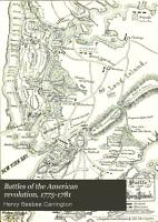 Battles of the American Revolution  1775 1781 PDF
