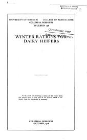 Winter Rations for Dairy Heifers: Volumes 156-168
