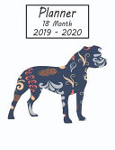 Planner 18 Month 2019 - 2020: Pitbull Dog Weekly and Monthly Planner July 2019 - December 2020: 18 Month Agenda - Calendar, Organizer, Notes, Goals