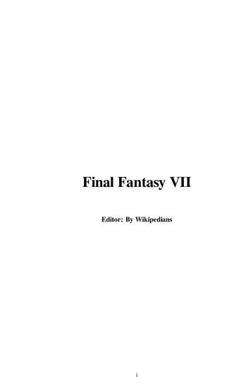 Final Fantasy VII PDF