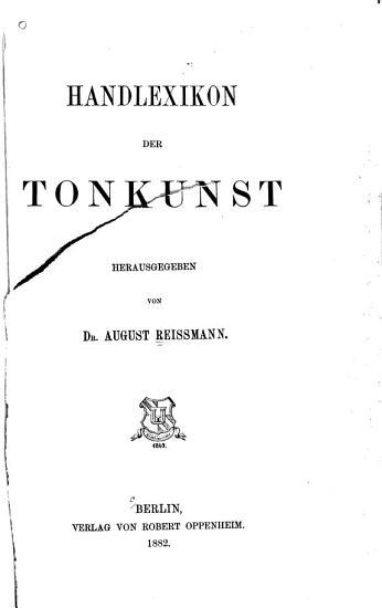 Handlexikon der Tonkunst PDF