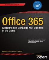 Office 365  Migrating and Managing Your Business in the Cloud PDF