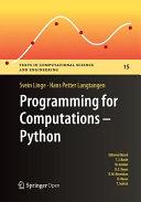 Programming for Computations   Python PDF