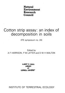 Cotton Strip Assay Book