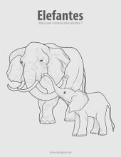 Elefantes libro para colorear para adultos 1