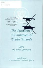 The President's Environmental Youth Awards: 1992, national ceremony