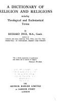 A Dictionary of Religion and Religions PDF