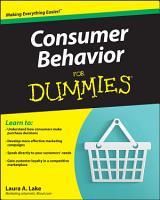 Consumer Behavior For Dummies PDF