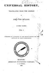 Universal history: Volume 1