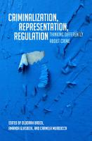Criminalization  Representation  Regulation PDF