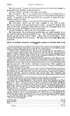 Hearings Before the Committee on Finance  United States Senate  Sixty seventh Congress  First Session  on the Proposed Tariff Act of 1921  H  R  7456