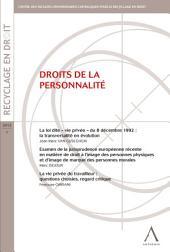 Droits de la personnalité: (Belgique)