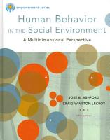 Brooks Cole Empowerment Series  Human Behavior in the Social Environment PDF