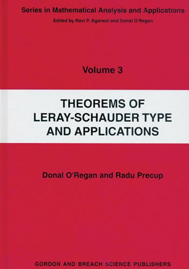 Theorems of Leray Schauder Type And Applications PDF