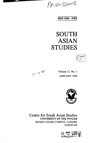 South Asian Studies PDF