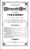 Munson Phonographic News and Teacher PDF