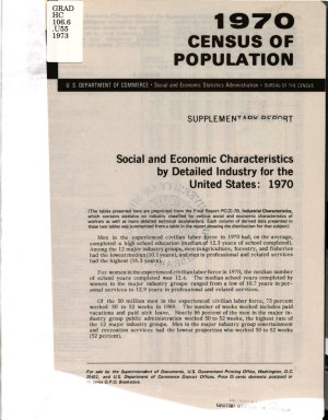 Social and Economic Characteristics by Detailed Industry for the United States, 1970