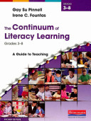 The Continuum of Literacy Learning  Grades 3 8 Book