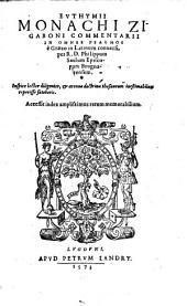 Commentarii in omnes psalmos e graeco in latinum conversi per Philippum Saulum