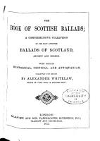 The Book of Scottish Ballads PDF