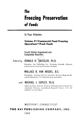The Freezing Preservation of Foods  Commercial food freezing operations PDF