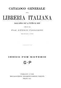 Catalogo generale della libreria italiana     PDF