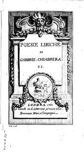 Poesie liriche di Gabbrie. Chiabrera: Volume1