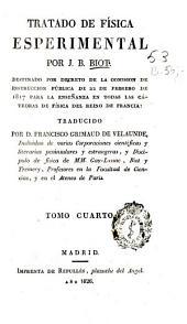 Tratado de física esperimental: Volumen 4