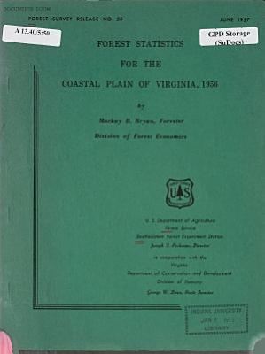 Forest Statistics for the Coastal Plain of Virginia  1956