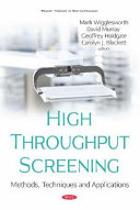 High Throughput Screening  Methods  Techniques and Applications PDF