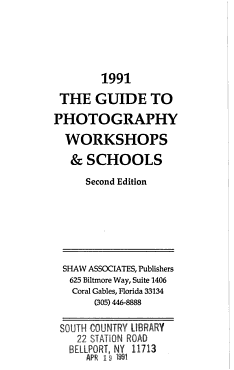 1991 the guide to photography workshops   schools PDF