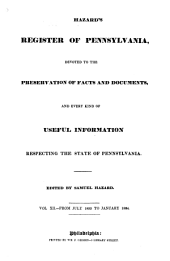 Hazard's Register of Pennsylvania: Devoted to the Preservation of Facts and Documents, and Every Kind of Useful Information Respecting the State of Pennsylvania, Volume 12