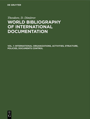 International organizations  activities  structure  policies  documents control PDF
