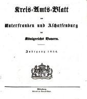 Kreisamtsblatt von Unterfranken und Aschaffenburg: für das Jahr ... 1856