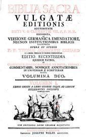 Biblia sacra vulgatae editionis ... studio Thomae Aquinatis Erhard ed. recentissima. -Augustae Vindelicorum Josephus Wolff 1771