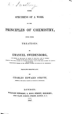 Some Specimens of a Work on the Principles of Chemistry