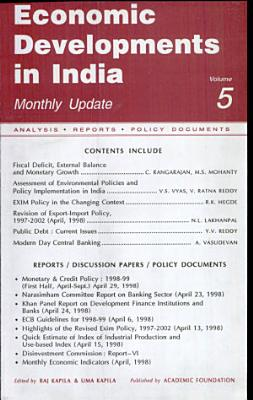 Economic Developments In India   Monthly Update  Volume  5 Analysis  Reports  Policy Documents