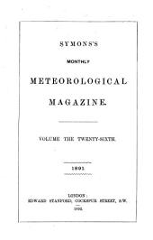 The Meteorological Magazine: Volume 26