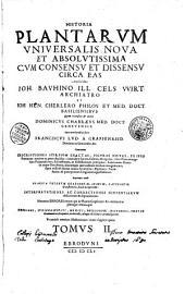 Historia plantarum universalis auctoribus Joh. Bauhino, Joh. Hen. Cherlero...