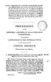 Proceedings of the ... non-intrusion committees; in relation to a settlement of the Church question, on the footing of the liber arbitrium: Volume 5