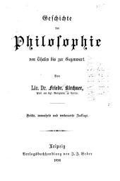 Geschichte der Philosophie von Thales bis zur Gegenwart