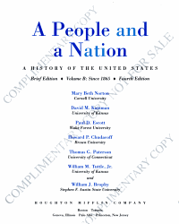 A People and a Nation PDF