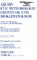 Archiv f  r Meteorologie  Geophysik und Bioklimatologie PDF