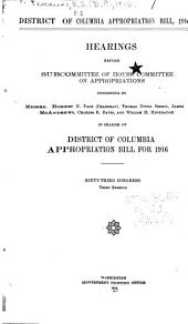 General Deficiency Bill, 1915: Hearing Before Subcommittee of House Committee on Appropriations ... in Charge of Deficiency Appropriations for 1915 and Prior Years. Sixty-third Congress, Third Session