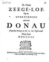 Zeege-lof, op de overwinning aen den Donau